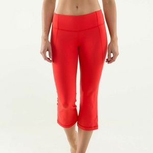 Lululemon Gather and Crow Crop Red Love